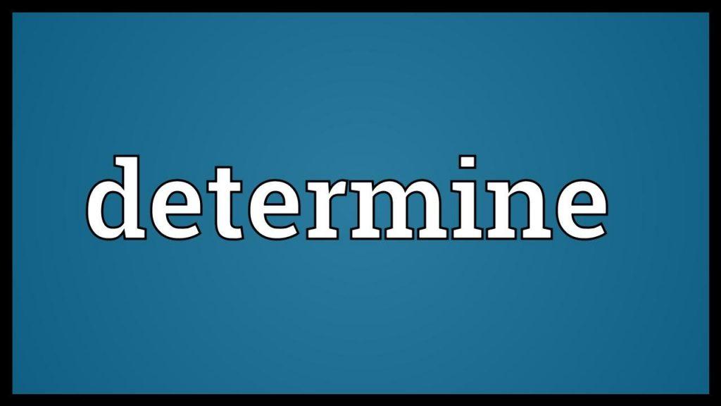determine là gì