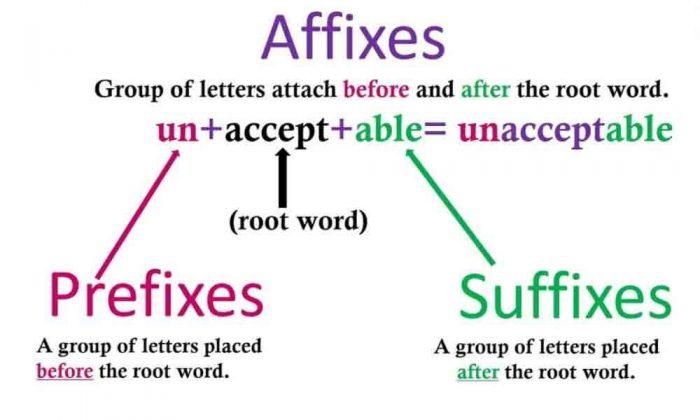 Tiền tố hậu tố trong tiếng Anh