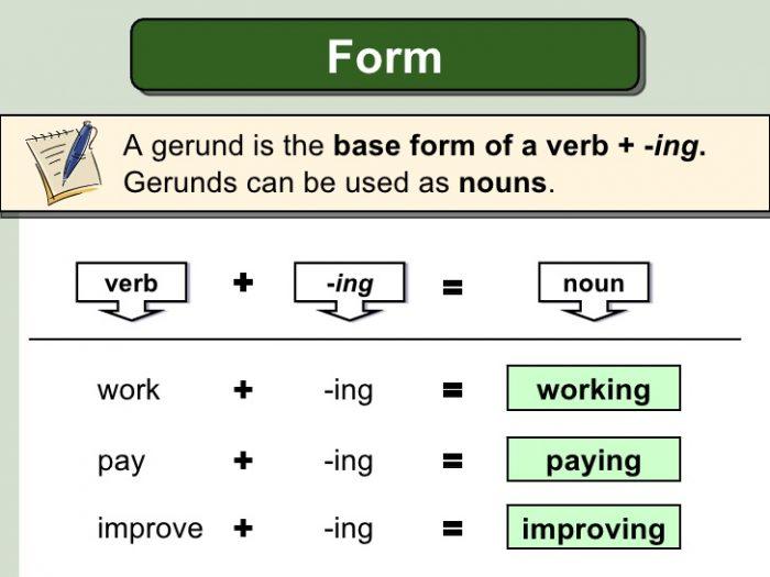 cách form a gerund